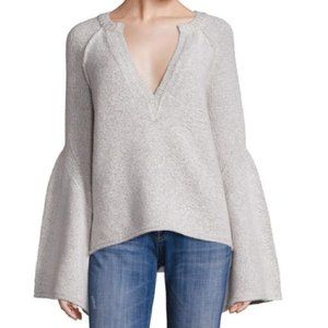 Free People Lovely Lines Bell Sleeve Sweater M
